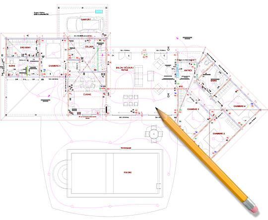Constructeur Maison Bois Aquitaine - Plan maison 170 m2 plain pied
