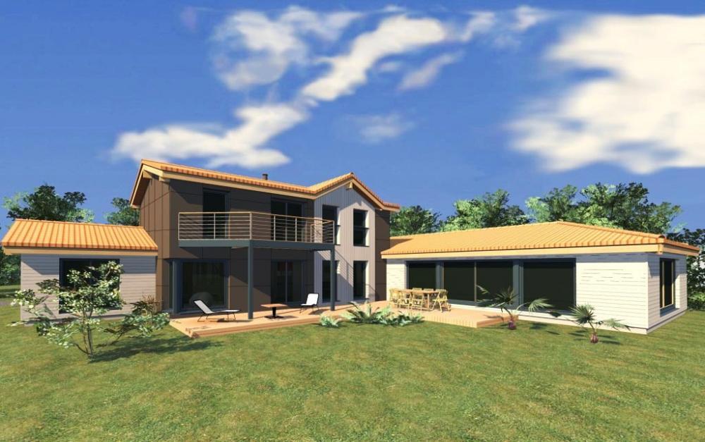 Architecture bois aquitaine construction maison bois ile for Constructeur aquitaine